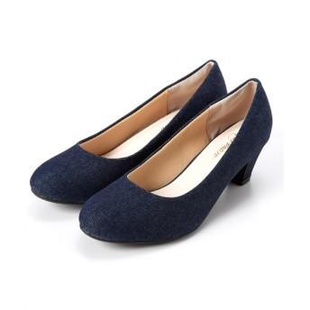 ラウンドトゥミドルヒールパンプス(低反発中敷)(ワイズ4E) パンプス, Pumps, 浅口皮鞋, 淺口皮鞋