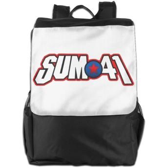 SUM 41 キャンバス リュックサック レディース ュック バックパック メンズやレディース用 防水 大容量 ボックス型 通学用 通勤用 ビジネスバッグ おしゃれ