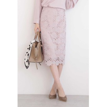 (N Natural Beauty Basic/エヌナチュラルビューティベーシック)ケミカルレースタイトスカート/レディース ピンク