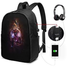 魔法のアメリカンフットボール リュック USB充電ポート付き PCバッグ リュックサック イヤホン穴付き 大容量 多機能