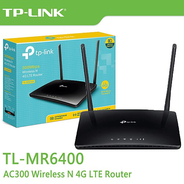 【免運費】TP-LINK TL-MR6400 N300 4G LTE 無線 路由器