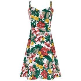 女性ビーチスカートスリング花柄のドレス夏の海辺の休日スカートナイトクラブセクシーなドレス屋外パーティードレス誕生日プレゼント (Color : RED, Size : L)