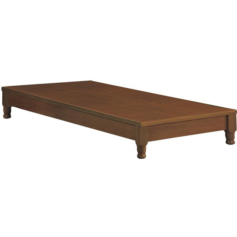 【SA105-3】 樟木色3.5尺車枳型床底