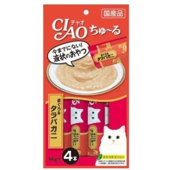 チャオちゅーる まぐろタラバガニ4本/ チャオちゅーる 猫用 おやつ