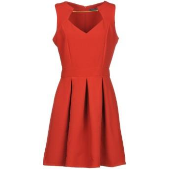 《セール開催中》GUESS レディース ミニワンピース&ドレス 赤茶色 XS ポリエステル 97% / ポリウレタン 3%