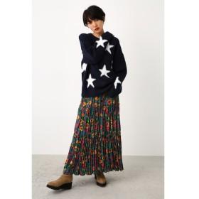 【ロデオクラウンズ/RODEO CROWNS】 フローラルプリーツマキシスカート