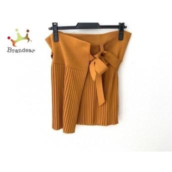 エルメス HERMES 巻きスカート サイズ38 M レディース 美品 ブラウン ニット/プリーツ 新着 20200107