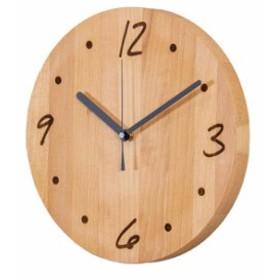 PLAM TIME プラム タイムシリーズ ウォールクロック 丸 moji PL1TIM-0041250-BEOL(時計 掛け時計 木製 丸 円 おしゃれ)