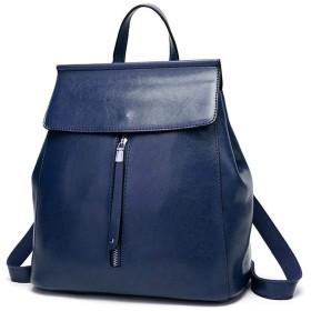 バックパック 女性&女の子のためのラップトップバックパックカメラバックパック女性PUレザーバックパックミニバックパック 軽量ファッションバッグ (Color : Dark blue)
