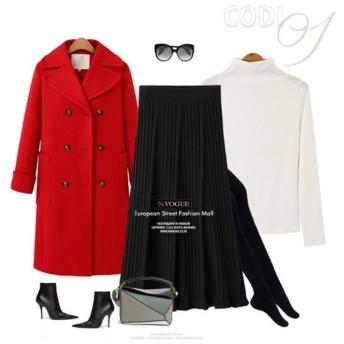 (N.VOGUE/エヌヴォーグ)N.Vogue(エヌヴォーグ)ニットプリーツスカート/レディース ブラック