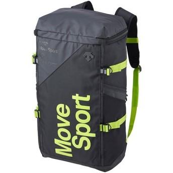 デサント(DESCENTE) スクエアバッグL ブラック×グリーン DMAPJA05 BKGN バックパック リュックサック デイバッグ スポーツバッグ かばん 鞄 通勤通学