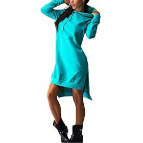 Danankan 秋の女性フード付きルーストレーナーパーカー女性カジュアルフルスリーブ女性プルオーバーフリースフーディアウタートップス (色 : Sky Blue, サイズ : XL)