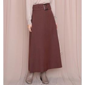 【チーク/Cheek】 チェックベルト付きスカート