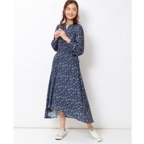 イレギュラーヘム花柄ワンピース (大きいサイズレディース)ワンピース, plus size dress, 衣裙, 連衣裙