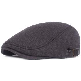 ベレー帽 ギャツビーキャスケットハット男性クラシックヘリンボーンTweebフラットキャップメンズギャツビーハット 通勤 旅行 (Color : Gray)