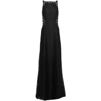 《セール開催中》SOLOGIOIE レディース ロングワンピース&ドレス ブラック 44 ポリエステル 100%