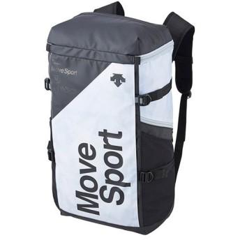 デサント(DESCENTE) スクエアバッグL ホワイトグラフィック×ブラック DMAPJA05 WHGR バックパック リュックサック デイバッグ スポーツバッグ かばん 鞄