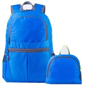 登山バッグ 軽量ユニセックスアウトドアバックパック軽量折りたたみフィットネス折りたたみ家庭旅行複数色 旅行キャンプ用 (Color : Blue)