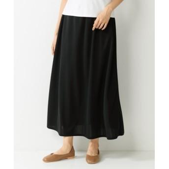 カットソージョーゼットロングスカート (大きいサイズレディース)スカート, plus size skirts, 裙子