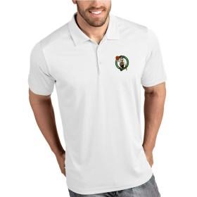 デイリーカジュアル印刷ポロシャツビジネスラペルトップ、ボストン・セルティックスTシャツ、通気性、野外活動 (Color : White, Size : XXL)