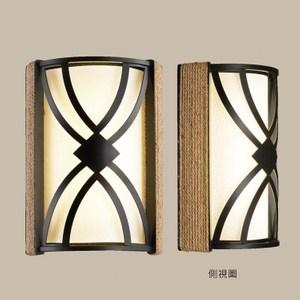 【PW居家燈飾】 現代美學布罩壁燈/單燈/麻繩