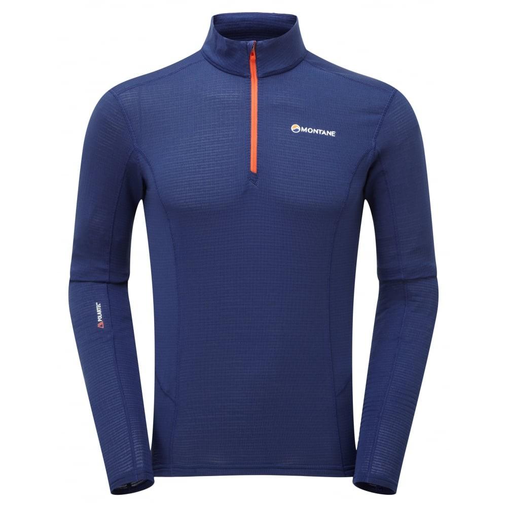 Montane 男款 兩色可選 Allez Micro Pull-On 阿蓮歐姿輕暖抗菌高領套頭半拉鍊中層衣 MAMPO