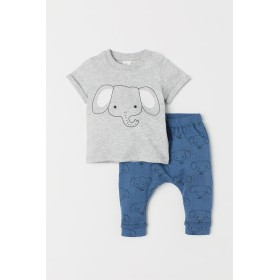 H & M - Tシャツ&パンツ - グレー