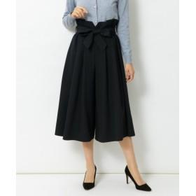 ウエストリボンフレアキュロット(ゆったりヒップ) (大きいサイズレディース)パンツ, plus size pants, 子, 子