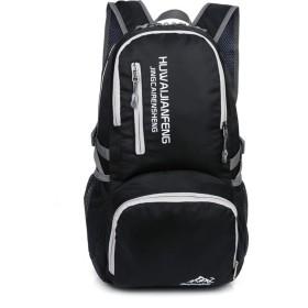 登山バッグ 超軽量折りたたみ式ハイキング便利な折りたたみ式キャンプアウトドアスクール複数のカラーオプション 旅行キャンプ用 (Color : Black)
