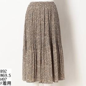 [マルイ] 【大きいサイズ】レオパード柄ロングプリーツスカート/アルディラ(AL・DI・LA)