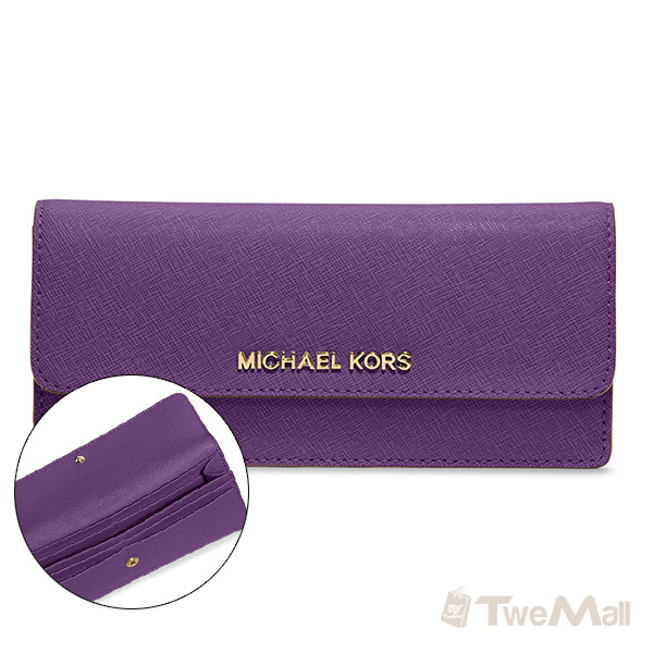 MICHAEL KORS MK防刮皮革長夾/皮夾(紫)