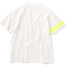 [KAPTAIN SUNSHINE] 別注 キャプテンサンシャイン アシンメトリー ライン Tシャツ 112115103 イエロー S