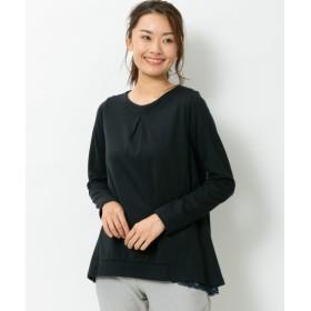 バックチュールカットソートップス (大きいサイズレディース)plus size T-shirts, T恤