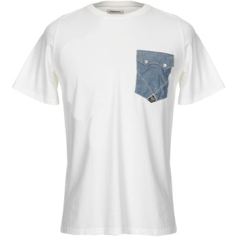 《セール開催中》RO ROGER'S メンズ T シャツ ホワイト 42 コットン 100%