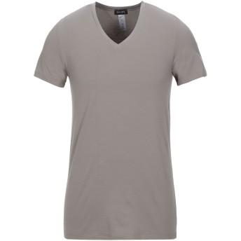 《セール開催中》HANRO メンズ アンダーTシャツ グレー M コットン 93% / ポリウレタン 7%
