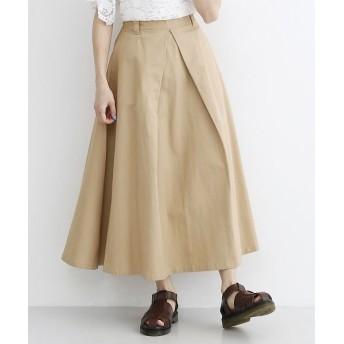 メルロー コットンタックデザインロングスカート レディース ベージュ FREE 【merlot】