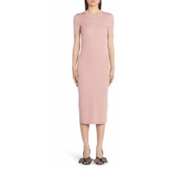 フェンディ FENDI レディース ワンピース ワンピース・ドレス FF Logo Jacquard Cotton Blend Sweater Dress Feg Pink