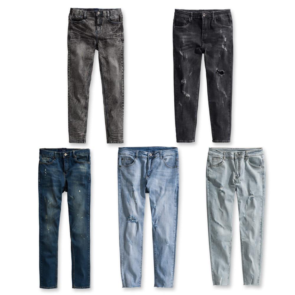 Roush - 破壞水洗刷痕牛仔褲 【XH010 / 625303 / 9856 / 9903 / 8003】