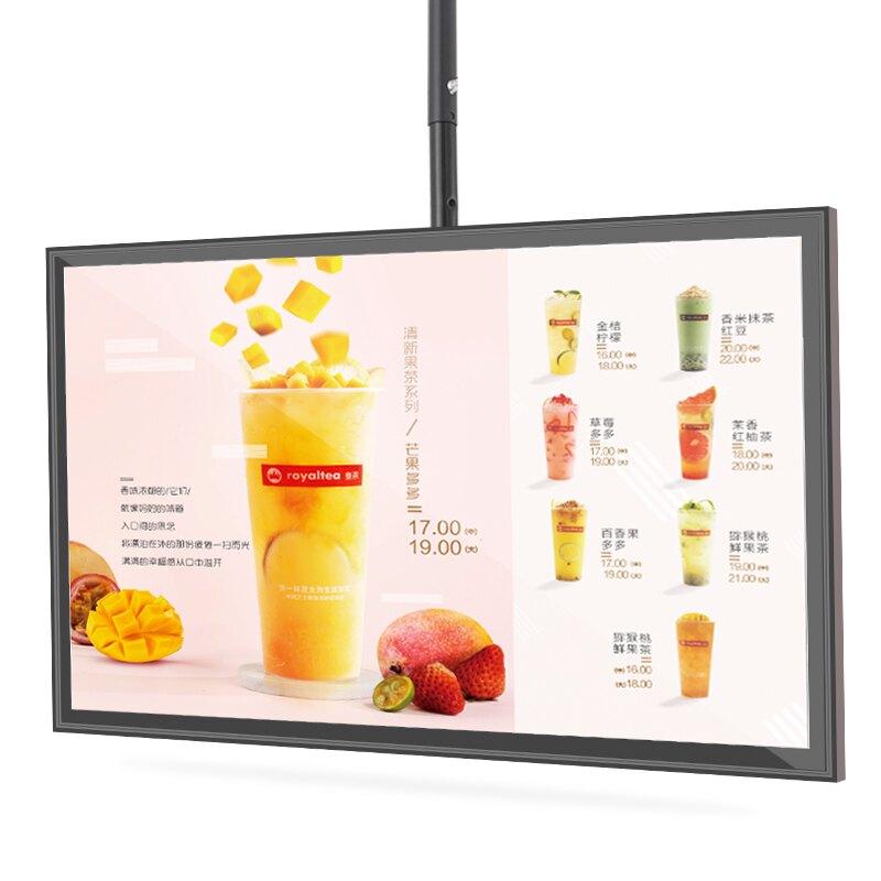 看板 奶茶店燈箱LED磁吸點餐價目表懸掛超薄電視燈箱看板顯示幕定做『XY234』
