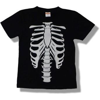 KID'STシャツ 骨 オモシロ かわいい だまし絵 Tシャツ (130)