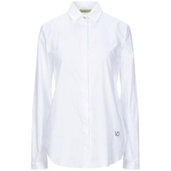 《セール開催中》VERSACE JEANS レディース シャツ ホワイト 40 コットン 78% / ナイロン 19% / ポリウレタン 3%
