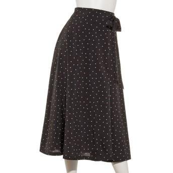 【Marie Hill】ラップ風ドットフレアスカート