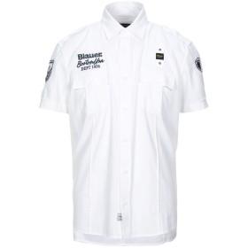 《セール開催中》BLAUER メンズ シャツ ホワイト S コットン 97% / ポリウレタン 3%