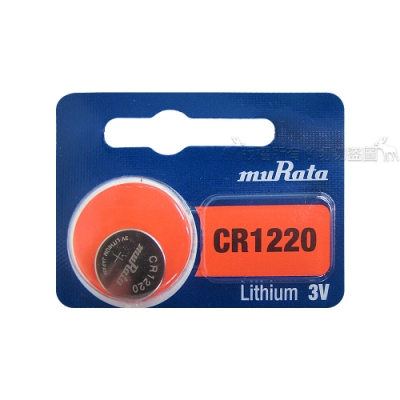 muRata村田(原SONY) 鈕扣型 鋰電池 CR1220 (5顆入) 3V