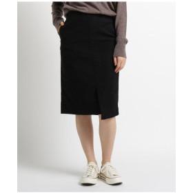 【洗える】モールスキンストレッチタイトスカート