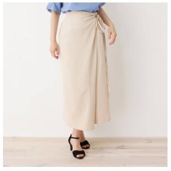 【イッツデモ/ITS'DEMO】 麻風ラップタイトスカート