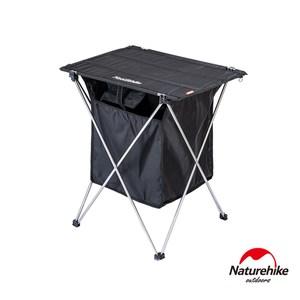 Naturehike 戶外便攜鋁合金桌面置物兩用折疊桌 黑色