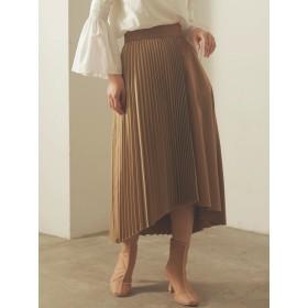 ハーフプリーツレイヤードスカート