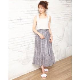 【INGNI:スカート】柄プリーツ スカート