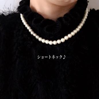 【卒業式.卒園式.入学式】7㎜パール/ショート/ネックレス